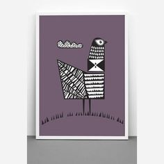 Bird Print designed by One must dash made in United Kingdom (UK) as part of Home Accessories and Home Decor and Posters & Prints - image 2 on CROWDYHOSUE