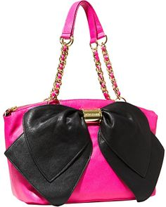 BOW NANZA TOO SATCHEL FUSCHIA accessories handbags non leather satchels