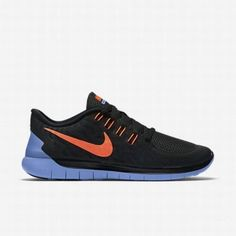 separation shoes ee3b1 b6a2f  121.58 nike free 5.0 orange,Nike Womens Black Chalk Blue Hyper Orange Free  5.0 Running Shoe