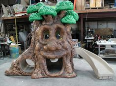 Laughing Tree during construction.  Available from DunRite Playgrounds http://www.dunriteplaygrounds.com