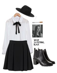 """""""AHS coven: Zoe Benson"""" by antisocialkiids ❤ liked on Polyvore featuring By Malene Birger, Monki and Coven"""