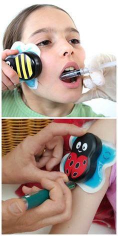Buzzy Pain Distraction or Relief system is perfect for dental work on for kids getting shots. Pain Free System will be a life saver for kids and parents.