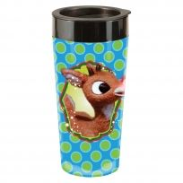 Rudolph the Red-Nosed Reindeer Plastic Holiday Travel Mug & Lid 16 oz.