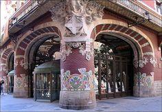 "Mosaics of the Palau de la Música Catalana ""Palace of Catalan Music"" – Barcelona, Spain Vintage Architecture, Beautiful Architecture, Beautiful Buildings, Art And Architecture, Architecture Details, Beautiful Places, Antonio Gaudi, Art Nouveau, Modernisme"
