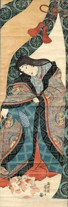 Utagawa Kuniyoshi 歌川国芳The Third Princess 女三の宮
