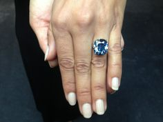 Today we went to #Sothebys for the unveiling of the exquisite Blue Moon 12.03 carat #bluediamond estimated between $35-50 million. #rarediamonds #luxury