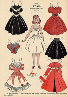 lily ann, vintage paper doll via Flickr.