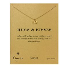 "Buy Dogeared Xo Hugs And Kisses Necklace, Gold, 16"""" & More 