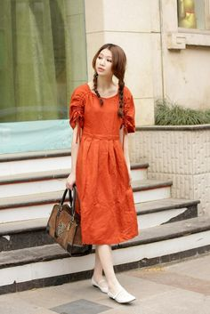 look like princess  orange half sleeve sundressmore by thesimpson, $67.00