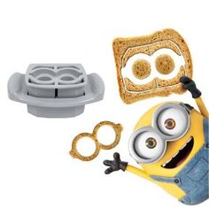 The FunBites Minions Goggles Food Cutter Set creates bite-sized pieces of food for your little one in the shape of goggles worn by the Minions in the popular movie. This handy kitchen gadget is a great way to get picky eaters to try new foods. Minion Food, Minion Goggles, Food Cutter, Picky Eaters Kids, Baking With Kids, Everything Is Awesome, Toddler Meals, Toddler Food, Bees Knees