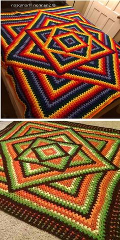 Let's talk about the ultimate classic today. The Kaleidoscope Pattern has gained enormous popularity in our community and it's definitely not going Crochet Bedspread Pattern, Crochet Snowflake Pattern, Crochet Blocks, Crochet Snowflakes, Granny Square Crochet Pattern, Afghan Crochet Patterns, Crochet Squares, Crochet Ripple, Crochet Granny