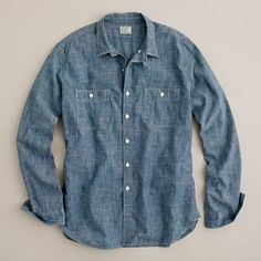 Vintage selvedge chambray utility shirt