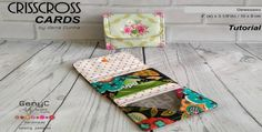 This is a very simple small pouch with 2 diagonal card slots, uses very little fabric and is perfect for a quick sew.  Carry just a few cards, or use it for your receipts, paper money, coupons &#82…