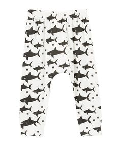 Look at this Little Mr. Hipster White & Black Sharks Harem Pants - Infant & Toddler on #zulily today!