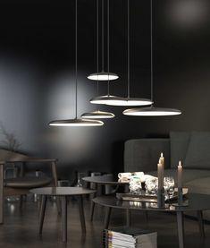 LED Shallow Pendant - Copper or Grey Finish