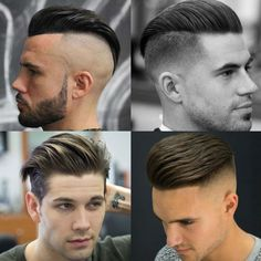 How To Slick Back Hair Guide) - Man Hair and Beard Style - Beauty Classic Mens Hairstyles, Cool Hairstyles For Men, Slick Hairstyles, Haircuts For Men, Short Slicked Back Hair, Combed Back Hair, Fohawk Haircut Fade, Beard Haircut, Front Hair Styles