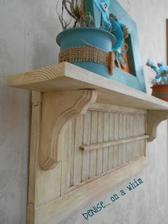 I love old shutters, and there are two awesome ways to use them in this post!
