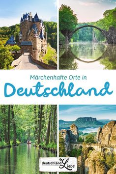 15 fairytale places in Germany Vacation WOW! 15 märchenhafte Orte in Deutschland Cool Places To Visit, Places To Travel, Beautiful Places To Visit, Trailers Camping, Countries To Visit, Travel Goals, New Travel, Outdoor Travel, Germany Travel