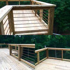 Rebar handrail on deck                                                                                                                                                                                 More