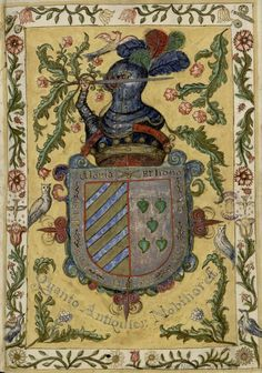 Vallejo coat of arms from a manuscript dated 1631