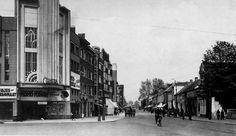 Antwerpen-Kiel - Sint-Bernardsesteenweg (2) Old Pictures, Cinema, Street View, Brussel, Anton Pieck, 1960s, Art Deco, Stone, Kiel
