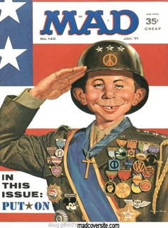 Mad Magazine - with Alfred Newman in homage to the then new film 'Patton'.