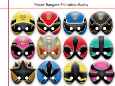 Unique Power Rangers Printable by AmazingPartyShop on Etsy