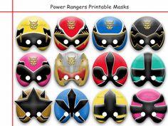 Unique Power Rangers Printable by AmazingPartyShop on Etsy