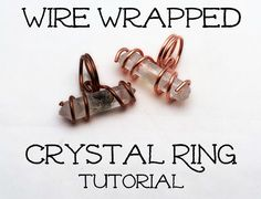 DIYU: How to Make Wire Wrapped Crystal Ring #jewelry