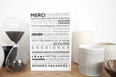carte merci maîtresse Hourglass, Home Decor, Teacher Appreciation, End Of School Year, Easy Cards, Decoration Home, Room Decor, Home Interior Design, Home Decoration