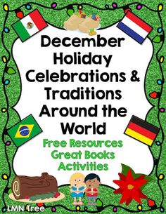Holiday celebrations with a new holiday december literacy kindergarten