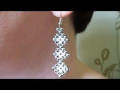 Tutorial: bracelet and earrings. Комплект: браслет и серьги из биконусов. МК - YouTube