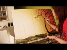 Sunset Painting Tutorial. Read full article: http://webneel.com/video/sunset-painting-tutorial | more http://webneel.com/video/paintings | more videos http://webneel.com/video/animation | Follow us www.pinterest.com/webneel