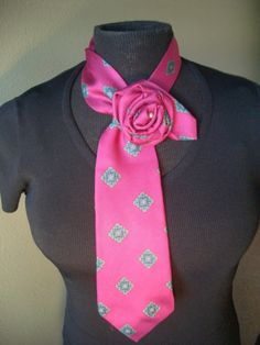 rose necklace from a tie