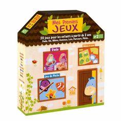 Un joli coffret de 20 jeux évolutifs pour les enfants à partir de 2 ans. Il regroupe les jeux classiques : jeu de l'oie, jeu de dada, dominos, mémo, loto, jeu de pêche pour apprendre à compter, observer et réfléchir tout en s'amusant !