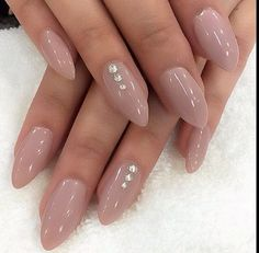 There are all types of nail art designs nail colors acrylic nails coffin nail Prom Nails, Wedding Nails, Long Nails, My Nails, Hair And Nails, Short Nails, Gems On Nails, Long Almond Nails, Wedding Acrylic Nails