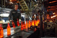 """ianbrooks:  Birth of a Bottle At the """"Ekran"""" Factory in..."""