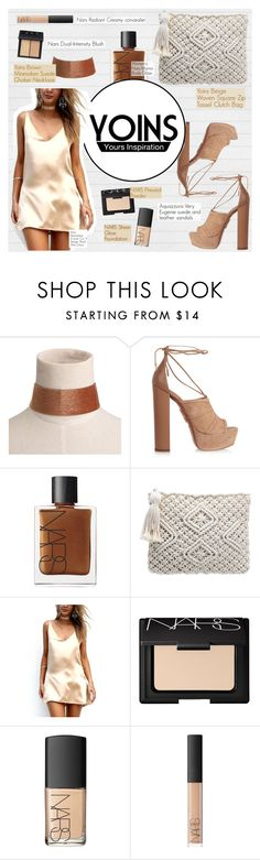 """Yoins"" by angel-from-heaven ❤ liked on Polyvore featuring Aquazzura, NARS Cosmetics, yoins, yoinscollection and loveyoins"