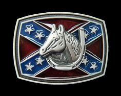 Horse Horseshoe Western Belt Buckle Flag Old United States USA American  Cross Stars Flags America Westerns Horses Horseshoes Buckles   Belts. Boucle  De ... c46ef0989e0