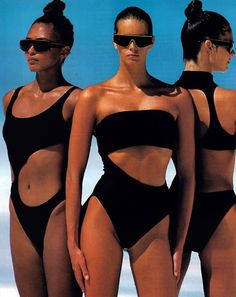 80's summer style by Gilles Bensimon for Elle magazine, December 1987