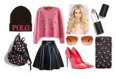 """""""Flamingo Chic..."""" by brenna-rivers on Polyvore featuring Dolce&Gabbana, MSGM, LeSportsac, Casetify, Oakley, Polo Ralph Lauren and Sigma Beauty"""