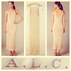 A.L.C. $374 woven nude dress sz.S @resaleriches price: $140 www.resalerichesnyc.com