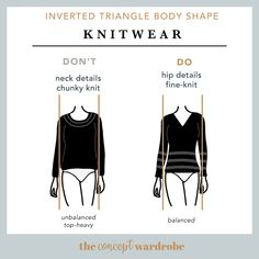 In this section, we explore how to dress the inverted triangle body shape to achieve a balanced silhouette. Make sure to check all body shapes that apply to you. V Shape Body, Triangle Body Shape, Body Shapes, Inverted Triangle Outfits, Inverted Triangle Body, Capsule Wardrobe Essentials, Broad Shoulders, Boyfriend Style, Mode Inspiration