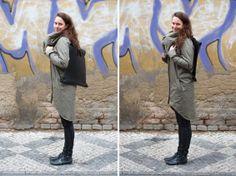 Kabát Soolista, coat, grey, fashion, Foto: Jan Hromádko #design #czechdesign