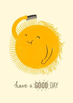 Bad Hair Day by Lim Heng Swee: Giclée print. - I never look that happy on a bad hair day Free Phone Wallpaper, Iphone Wallpapers, Phone Backgrounds, Mobile Wallpaper, Humor Grafico, Bad Hair Day, Good Morning Quotes, Sunny Day Quotes, Goog Morning