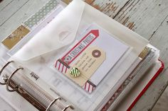 Project LIFE idea: For those of us that love to keep photos from friends at Christmas, stick an envelope into your album, put the photos in there. Done and organized!