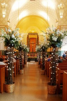 church wedding decor   Church Decorations