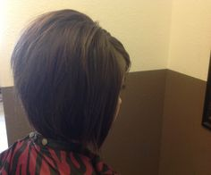 Textured A-line bob. Medium to short hair
