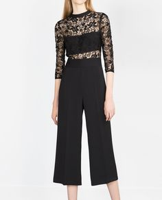 Holiday Look // LACE COMBINED JUMPSUIT-EVENING | WOMAN & MAN-EDITORIALS | ZARA United States