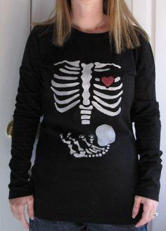 Keeping My Cents ¢¢¢: Halloween Skeleton and Baby Maternity Shirt Tutori...